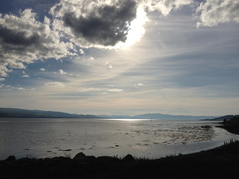 Estuario di Beauly, Scozia immagine stock libera da diritti