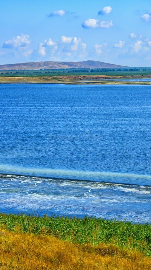 Estuarios, colinas y estepas de la península de Taman fotografía de archivo libre de regalías