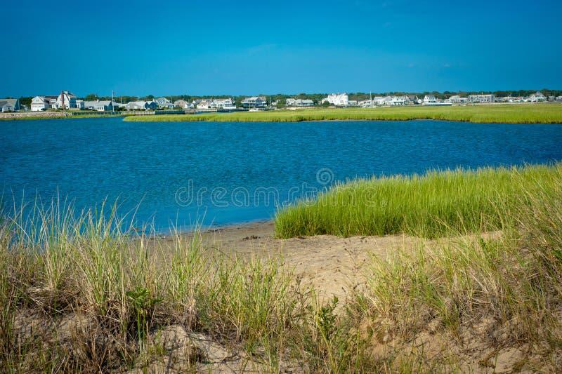 Estuary in coastal area of Cape Cod, Massachusetts. Estuary and grasses in coastal area of Cape Cod, Massachusetts stock photos