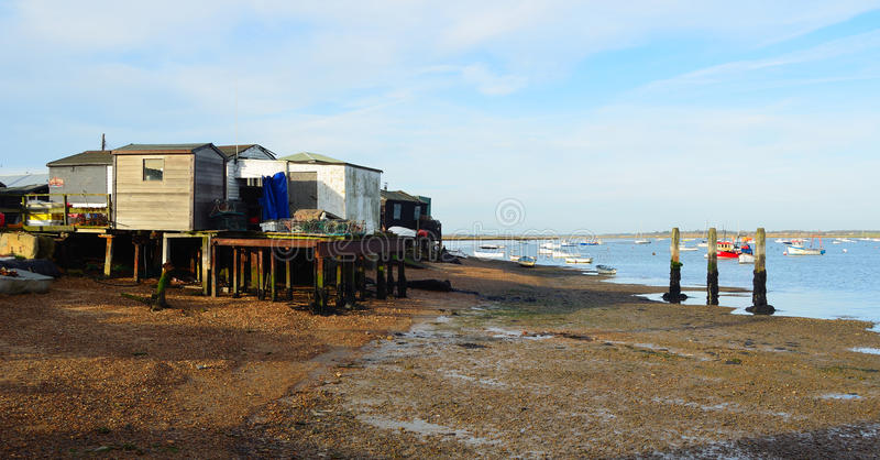 Estuary of the River Deben at Felixstowe Ferry. stock images