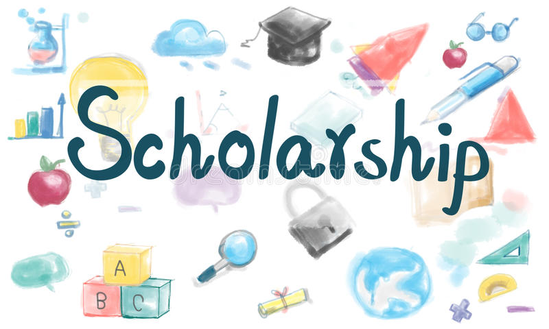 Estudante Academic Education Concept da bolsa de estudos ilustração royalty free