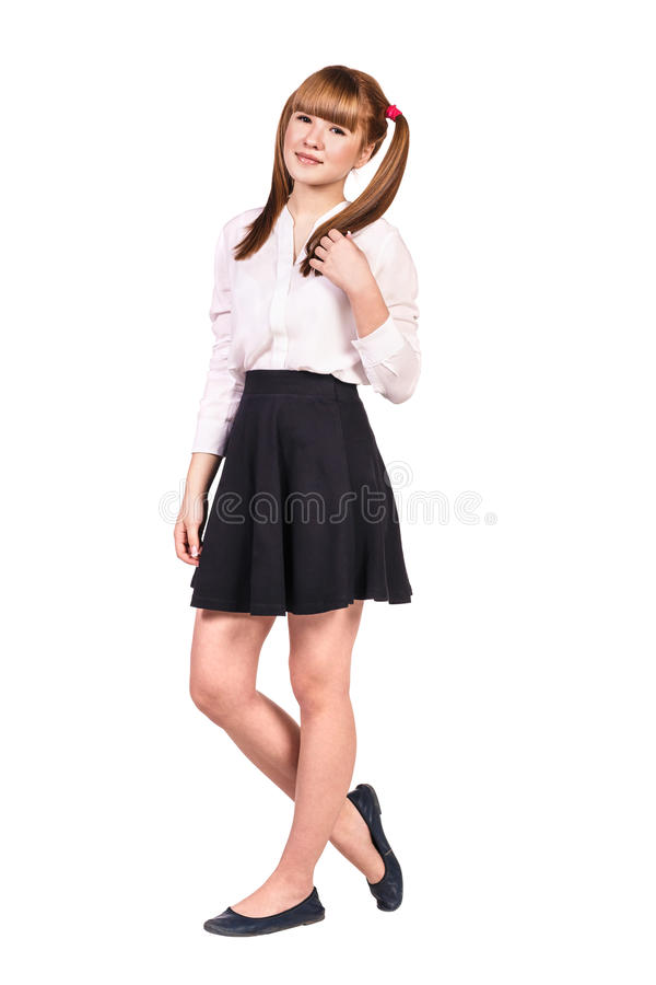 Estudante adolescente na roupa formal imagens de stock royalty free