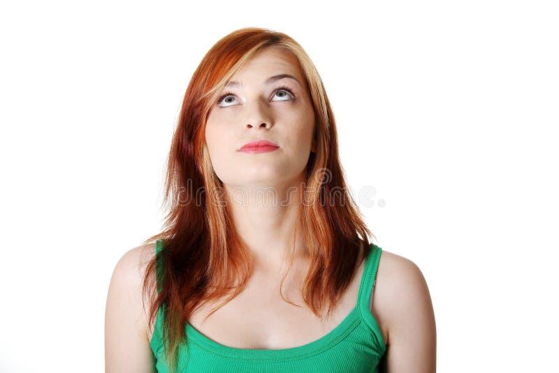 Estudante adolescente que olha acima. imagens de stock