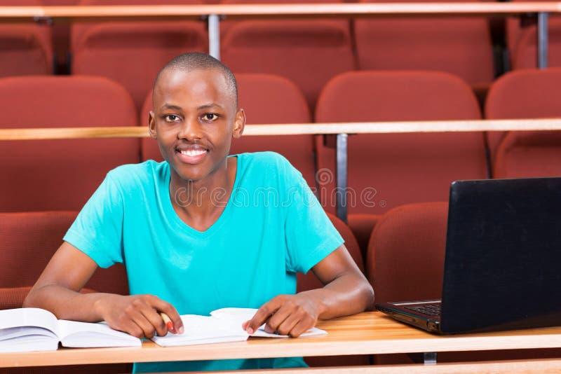 Estudante africano masculino fotografia de stock