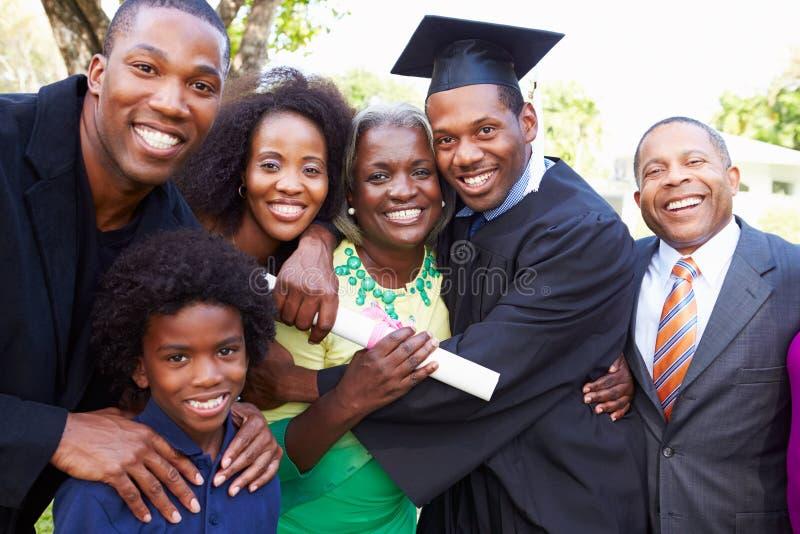 Estudante afro-americano Celebrates Graduation fotos de stock royalty free