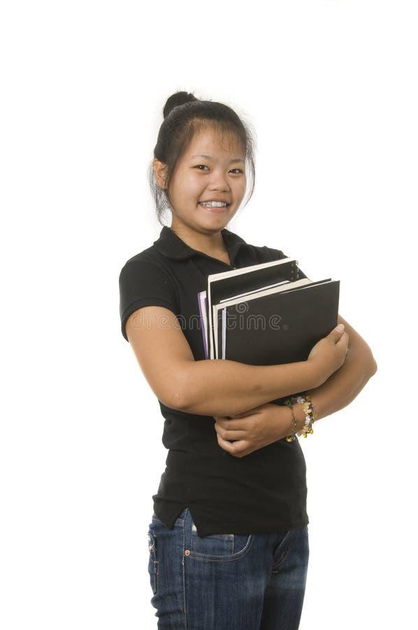 Estudante asiático adolescente imagens de stock
