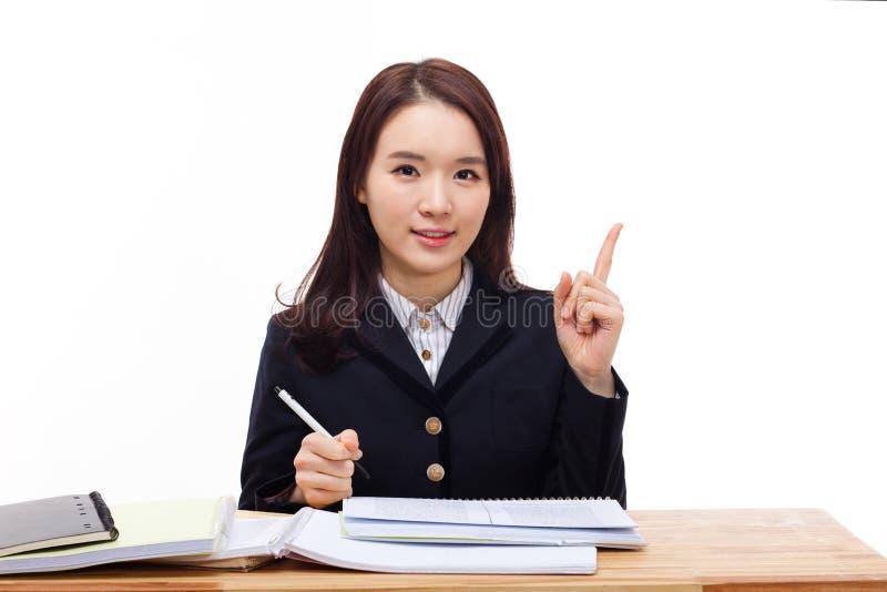 Estudante asiático novo fotografia de stock royalty free