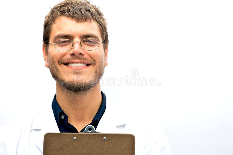 Estudante atrativo do cientista fotografia de stock royalty free