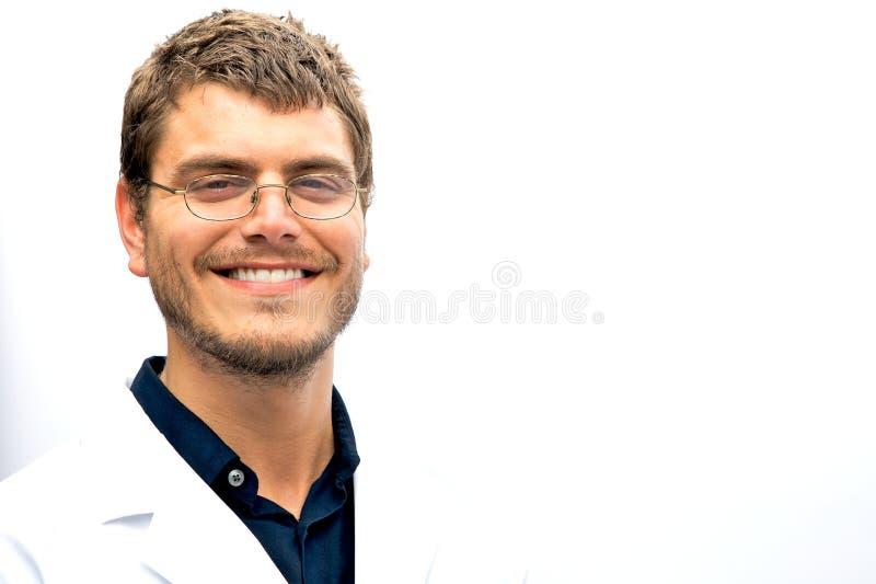 Estudante atrativo do cientista foto de stock