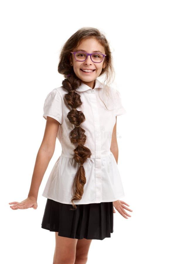 Estudante bonita alegre imagem de stock