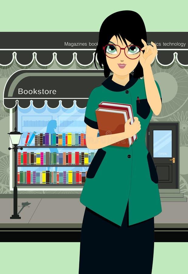 Estudante Book Store ilustração stock