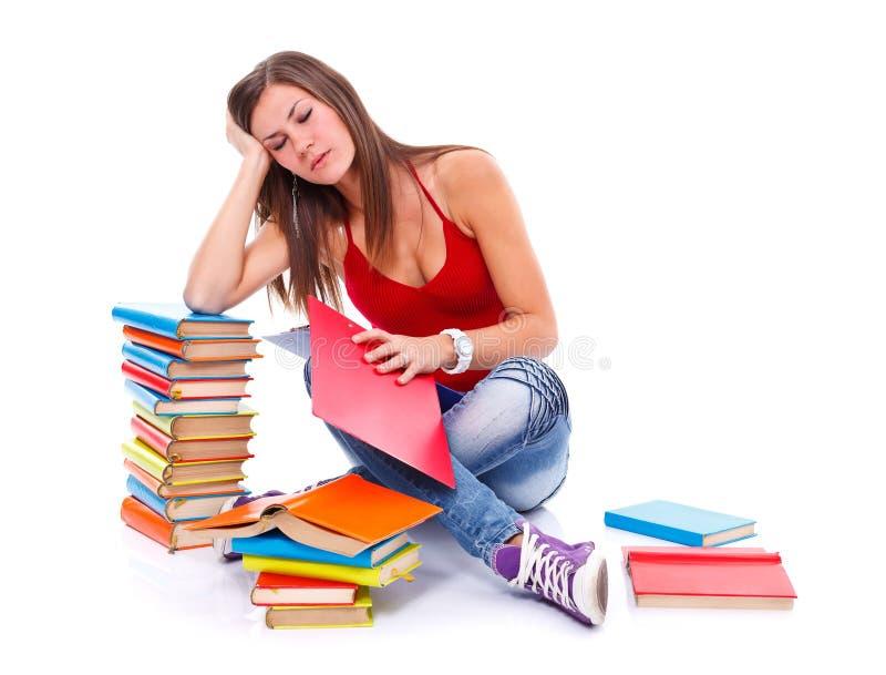 Estudante cansado imagens de stock royalty free