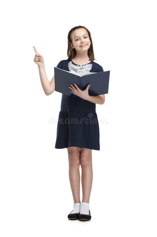 Estudante com livro aberto foto de stock