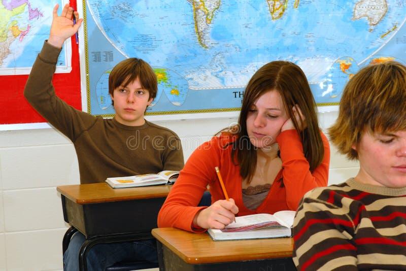 Estudante com resposta 2 fotos de stock royalty free