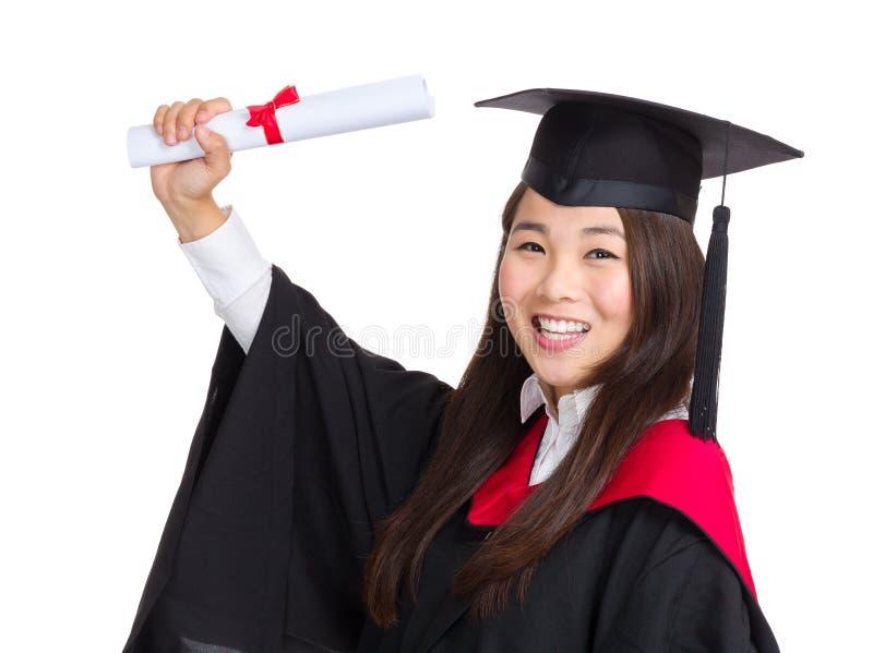 Estudante de graduado novo fotografia de stock royalty free