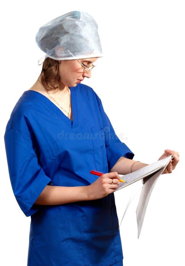 Estudante de Medicina. Examinação fotos de stock