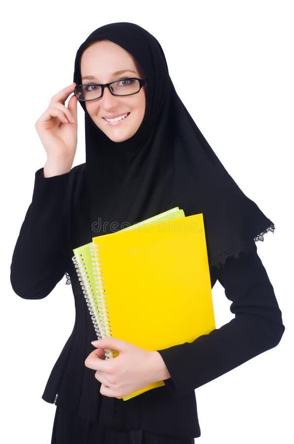 Estudante de mulher árabe fotos de stock royalty free