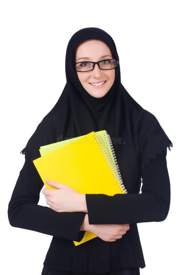 Estudante de mulher árabe fotos de stock