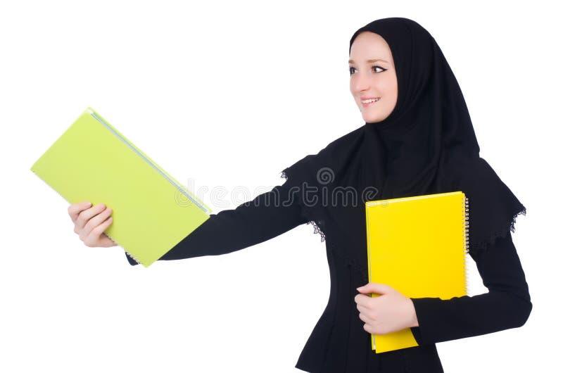 Estudante de mulher árabe isolado imagem de stock royalty free