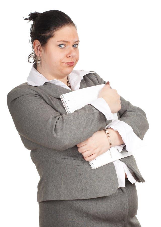 Estudante de mulher gordo novo foto de stock