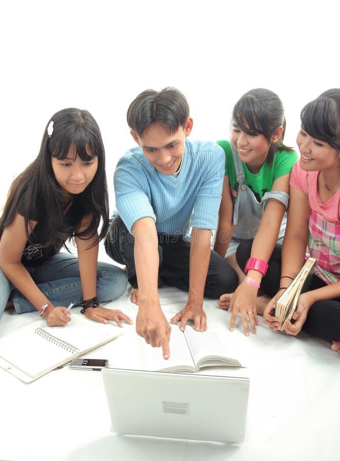 Estudante de quatro Asian fotos de stock