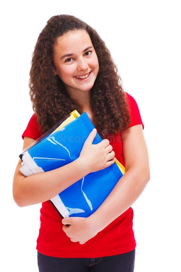 Estudante de sorriso fotografia de stock