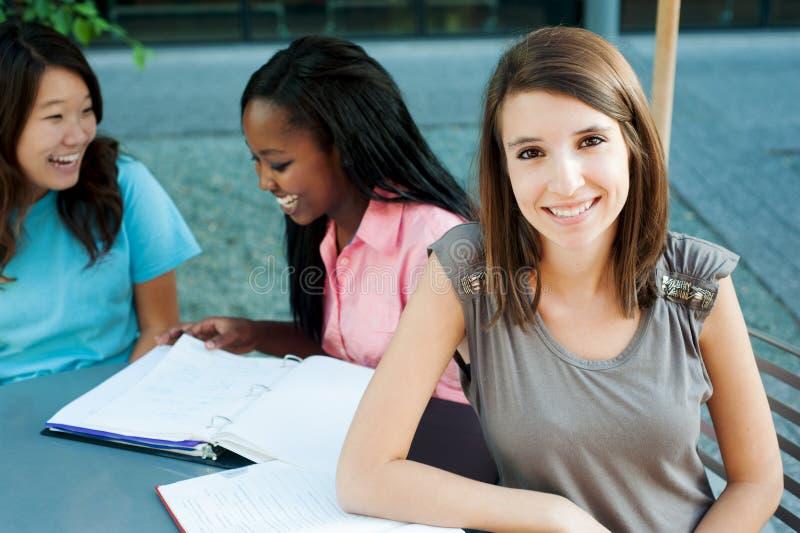 Estudante de sorriso foto de stock royalty free