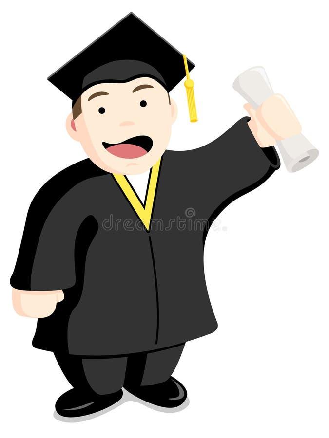 Estudante de terceiro ciclo ilustração royalty free