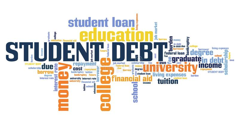 Estudante Debt ilustração royalty free