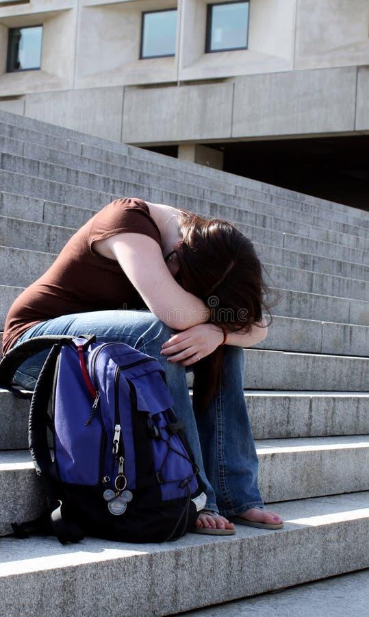 Estudante deprimido ou tired imagem de stock