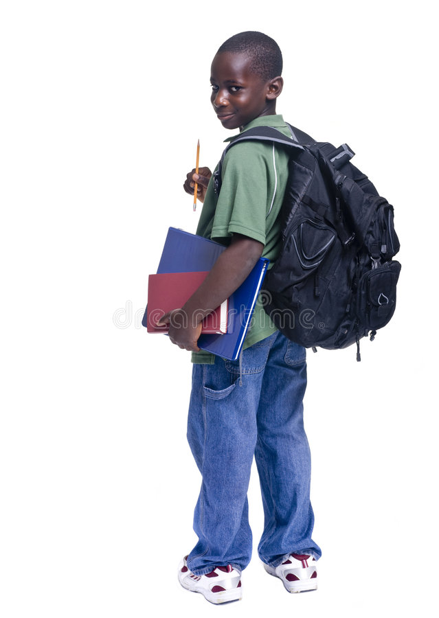 Estudante do americano africano foto de stock royalty free