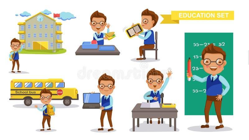 Estudante do menino ilustração stock