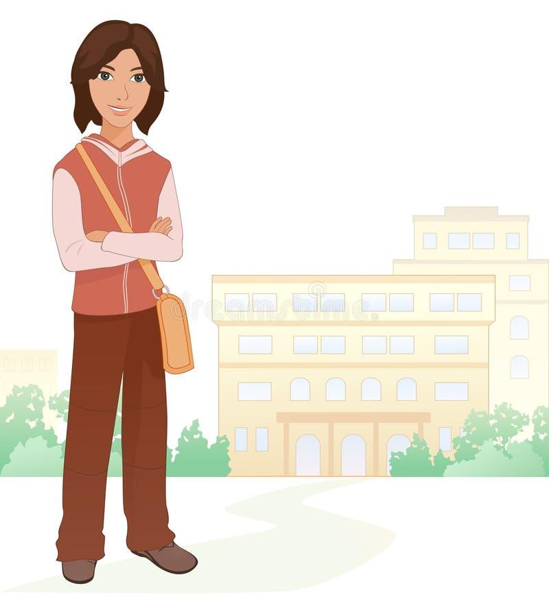 Estudante do menino ilustração royalty free