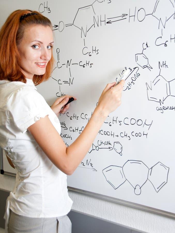 Estudante do químico foto de stock royalty free