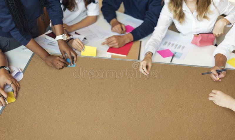 Estudante educacional Library Teamwork Concept imagem de stock royalty free