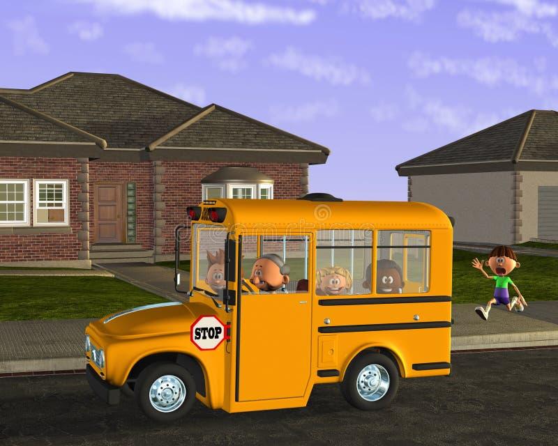 Estudante Education das crianças do ônibus escolar ilustração royalty free