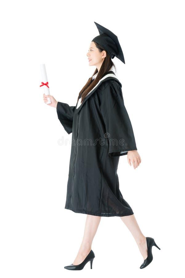 Estudante elegante da beleza que obtém graduada foto de stock royalty free