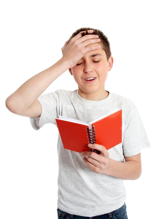Estudante emocional, tolice, virada, erro foto de stock royalty free