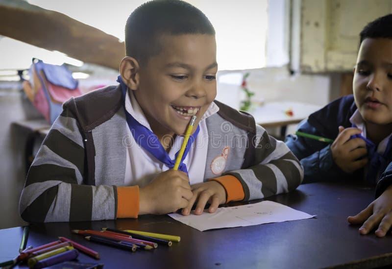 Estudante, escola rural, Cuba imagens de stock royalty free
