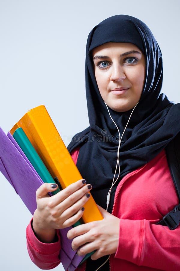 Estudante fêmea árabe fotografia de stock