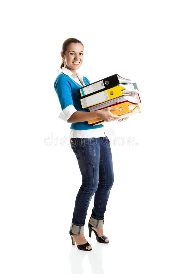 Estudante fêmea bonito fotos de stock royalty free