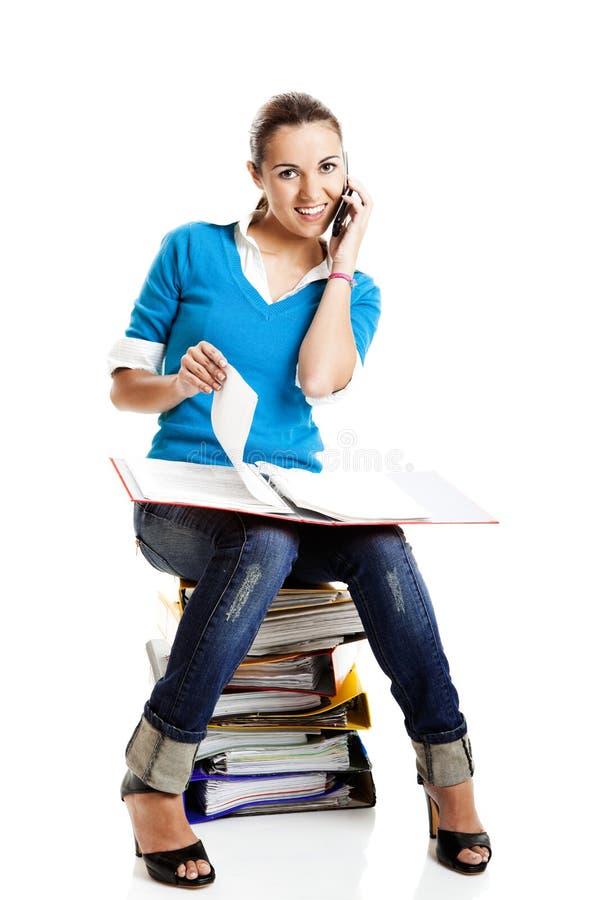 Estudante fêmea bonito imagem de stock