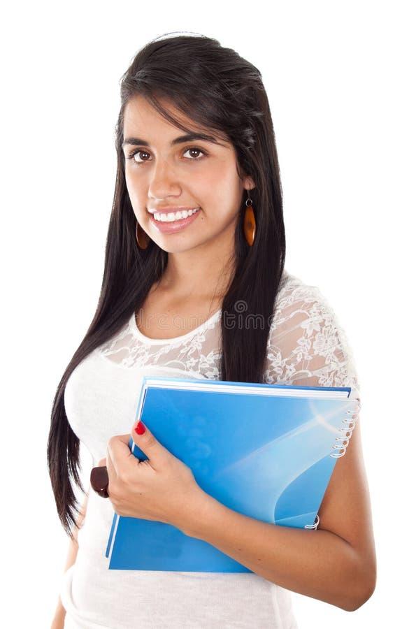Estudante fêmea feliz fotografia de stock