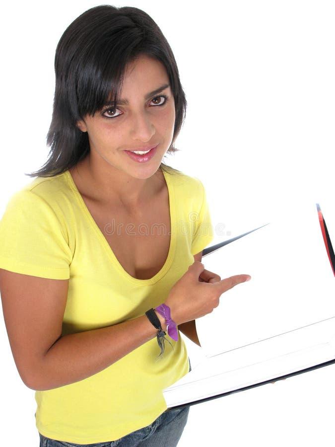 Estudante fêmea novo bonito imagem de stock royalty free