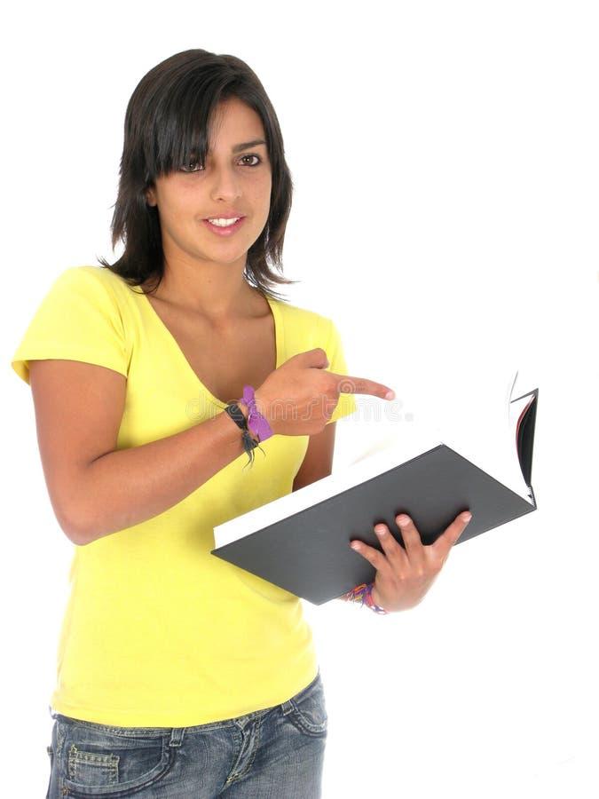 Estudante fêmea novo bonito imagens de stock