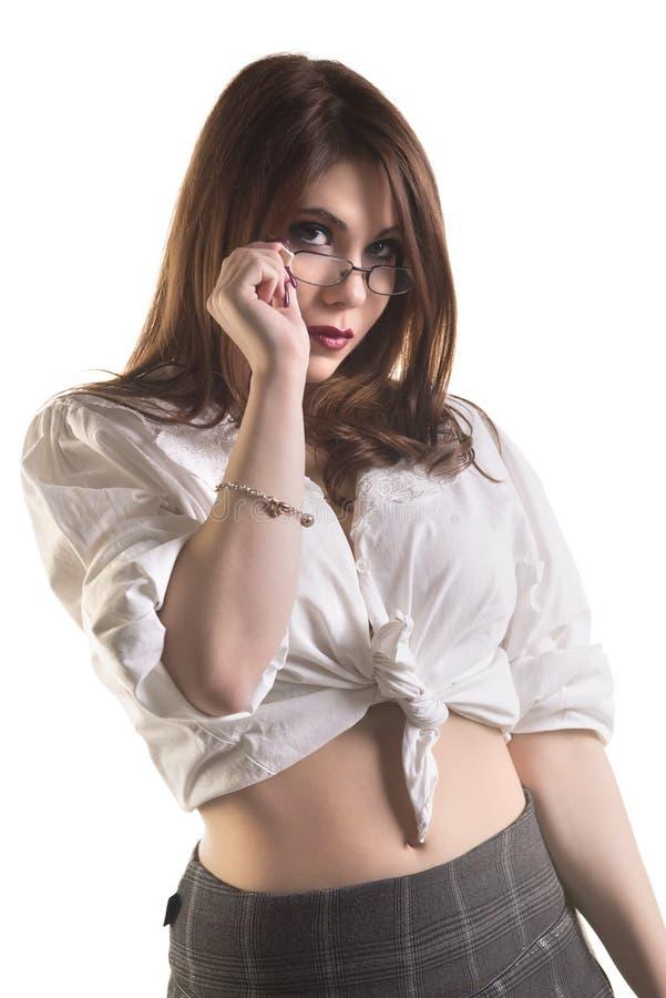 Estudante fêmea novo 'sexy' fotografia de stock