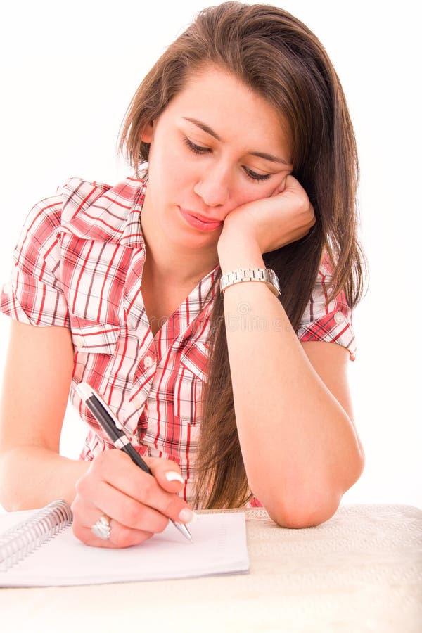 Estudante fêmea pensativo imagem de stock