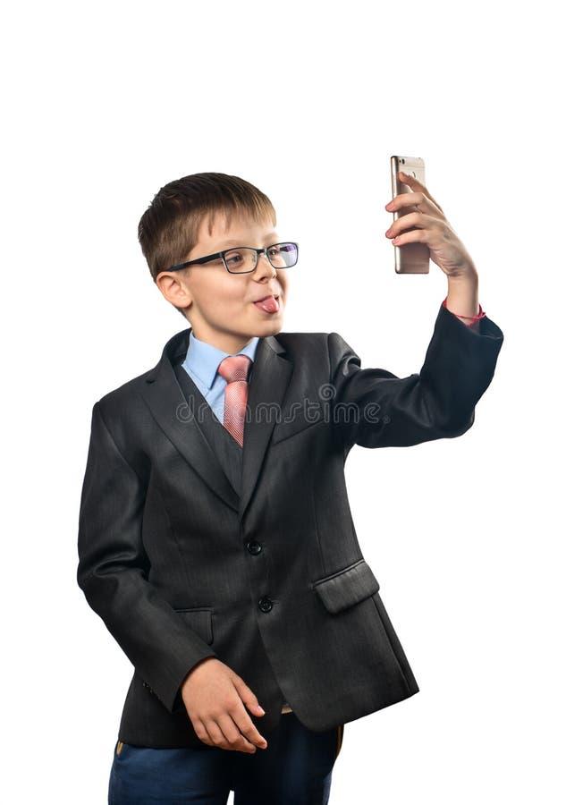 A estudante faz selfies imagem de stock