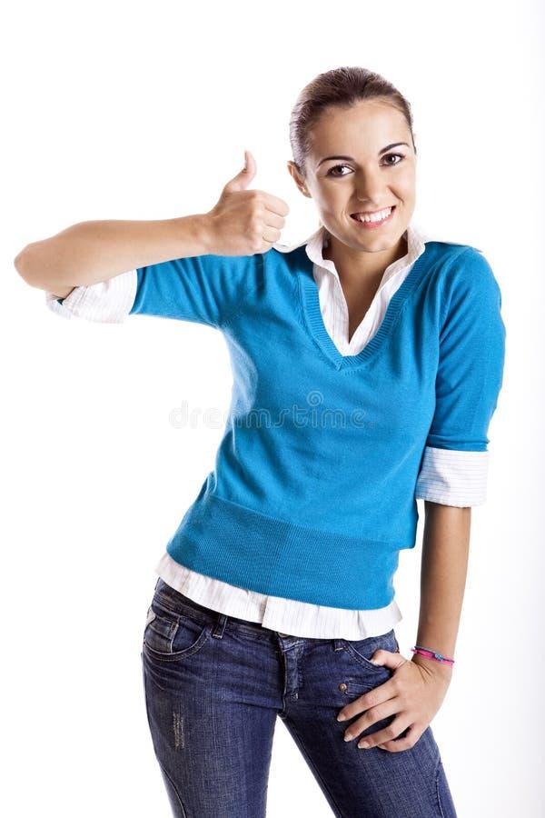 Download Estudante feliz imagem de stock. Imagem de sorriso, fresco - 12805653