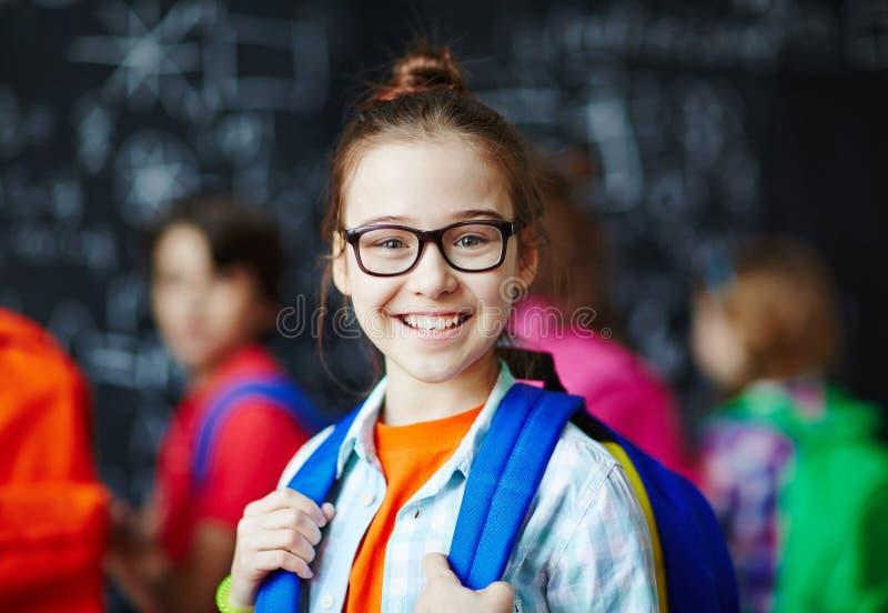 Estudante feliz imagem de stock